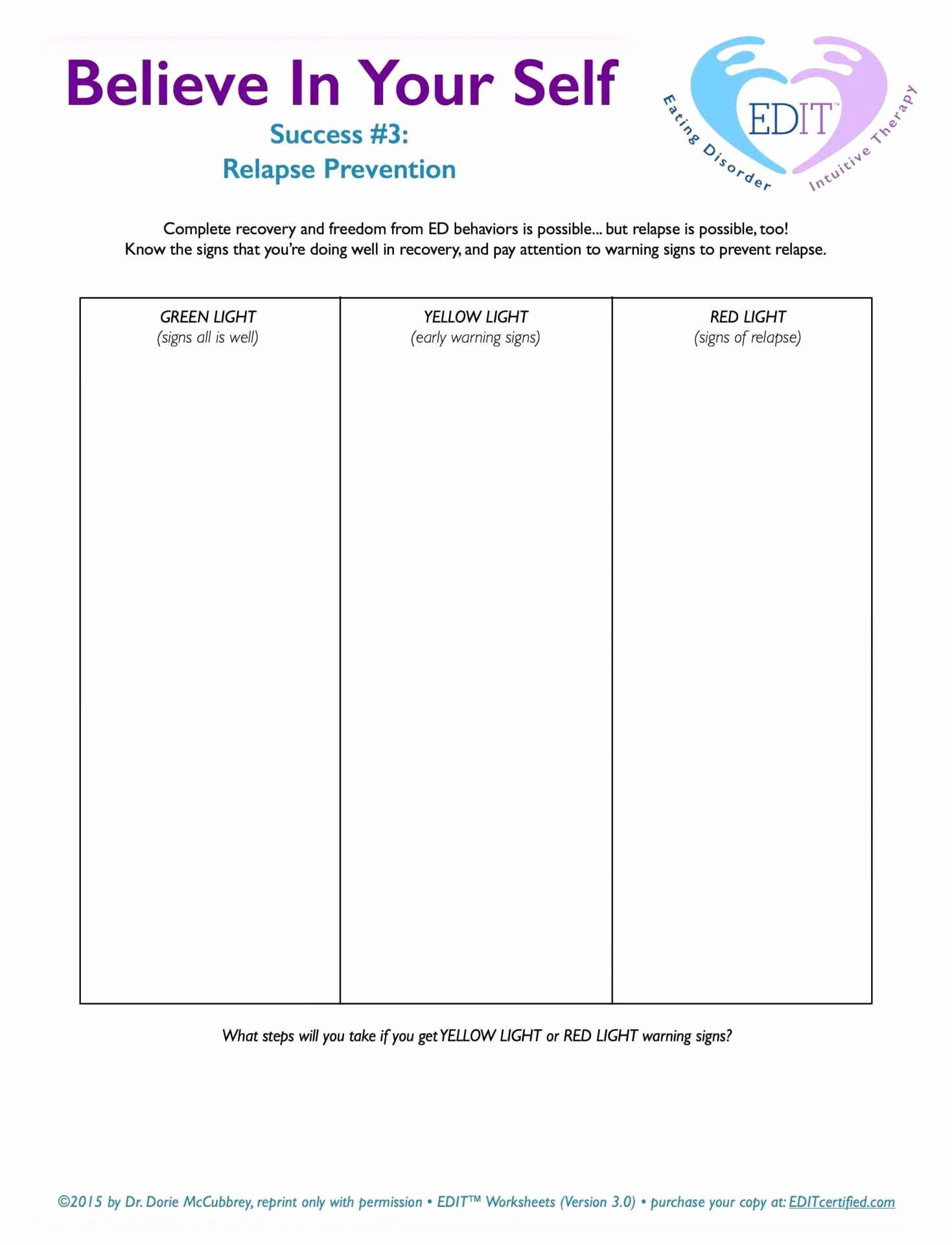 Substance Abuse Treatment Plan Template Lovely Tips for Avoiding Relapse Worksheet Relapse Prevention
