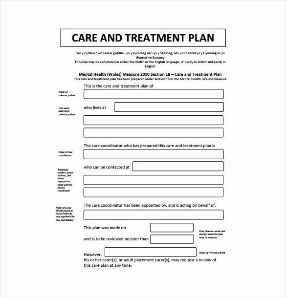 Substance Abuse Treatment Plan Template Unique Treatment Plan Template