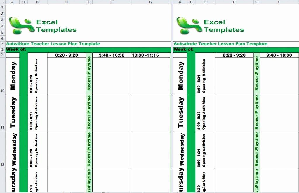 Substitute Lesson Plan Template Luxury Substitute Teacher Lesson Plan Template