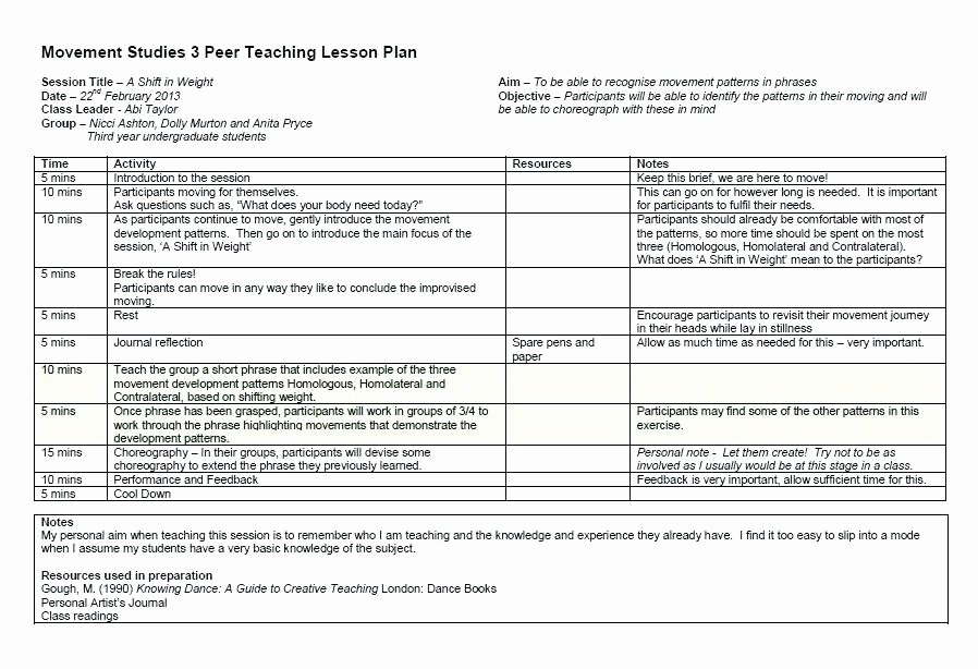 Substitute Lesson Plan Template New Teacher Schedule Template Class Sample Daily Substitute