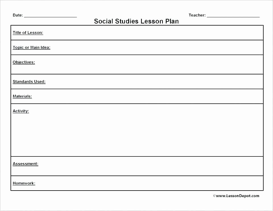 Substitute Lesson Plan Template New Team Lesson Plan Template Best Substitute Teacher Pdf