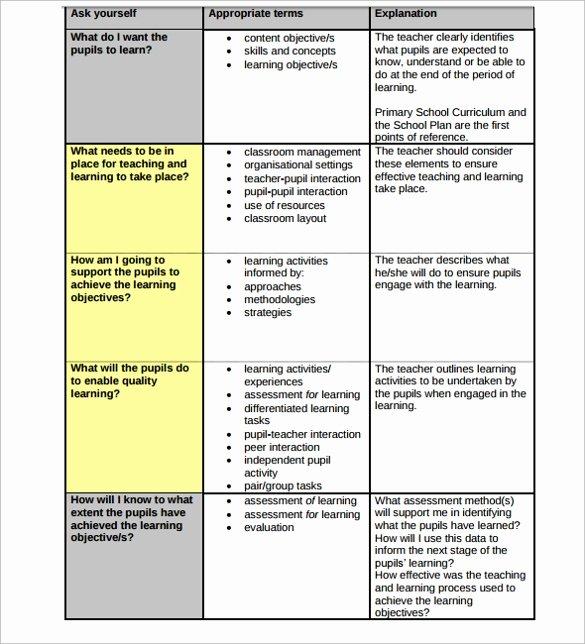 Substitute Teacher Lesson Plan Template Best Of 19 Sample Teacher Lesson Plan Templates