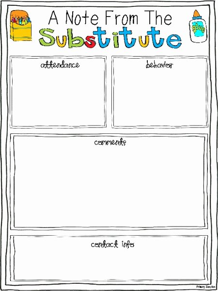 Substitute Teacher Lesson Plan Template Best Of Substitute Teaching Kits Collection
