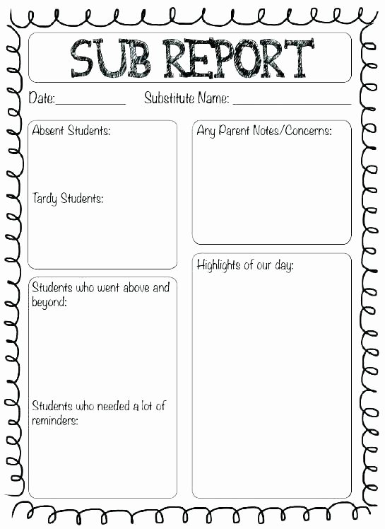 Substitute Teacher Lesson Plan Template Inspirational Substitute Teacher Plans Template Single Subject Lesson