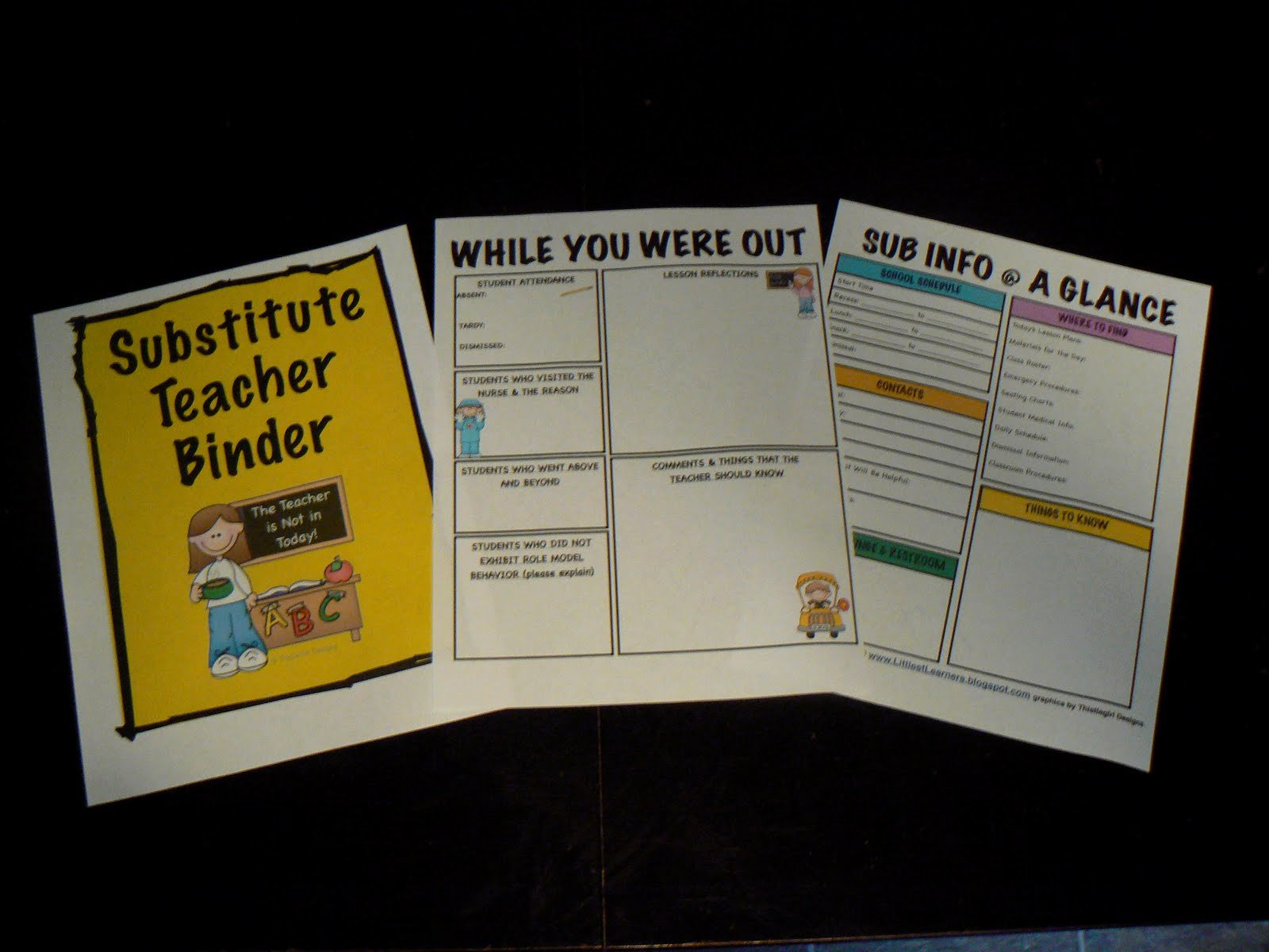 Substitute Teacher Plan Template Awesome Littlest Learners Clutter Free Classroom Blog Planning