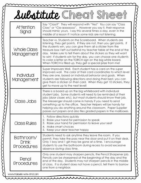 Substitute Teacher Plan Template Beautiful 25 Best Ideas About Substitute Teacher forms On Pinterest