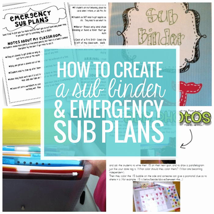 Substitute Teacher Plan Template Unique How to Create A Sub Plan Sub Binder and Emergency Sub