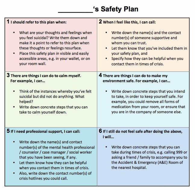 Suicide Safety Plan Template Awesome Suicide Chat Munity Health assessment Team