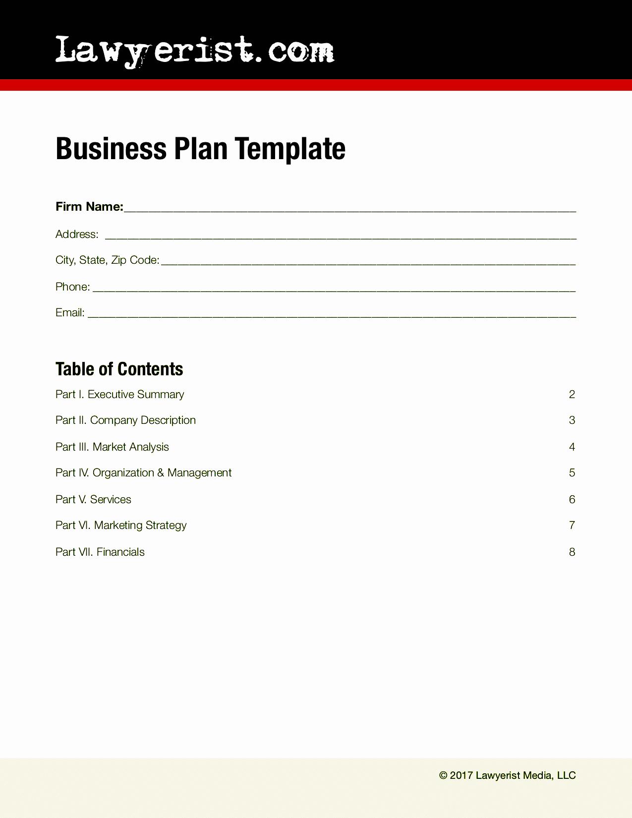 Summary Plan Description Template Best Of Business Plan Template