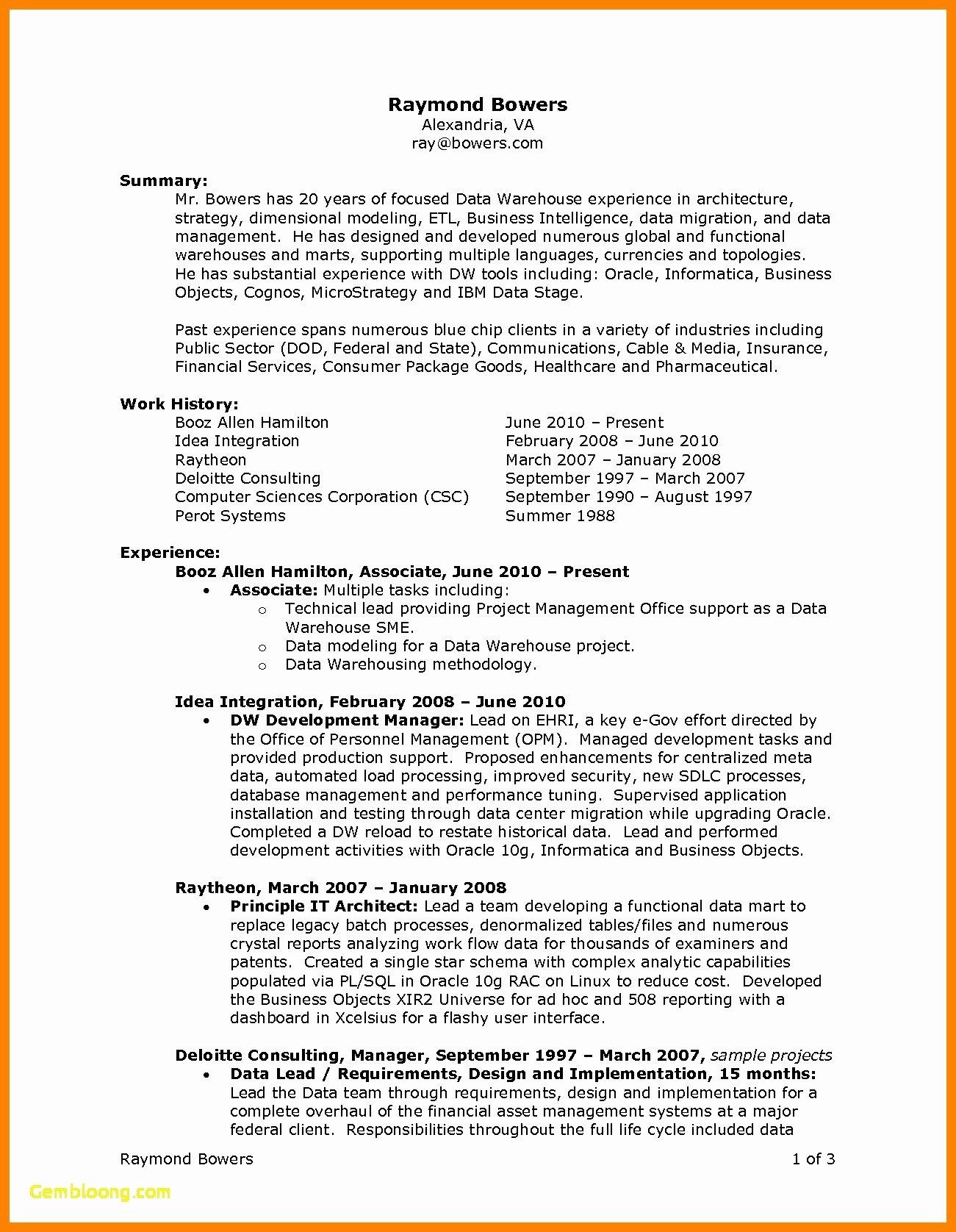 Summary Plan Description Template Best Of New Sample Erisa attorney Resume
