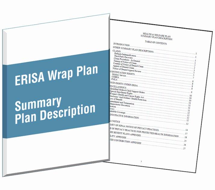 Summary Plan Description Template Luxury Wrap Document