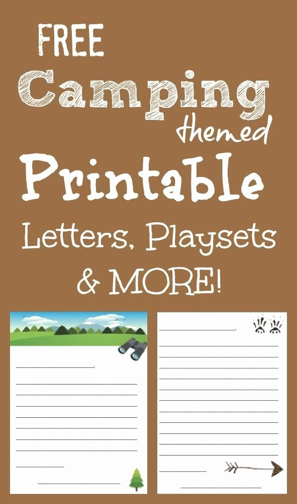 Summer Camp Lesson Plan Template Awesome Free Printable Camping Letters for Summer Camp