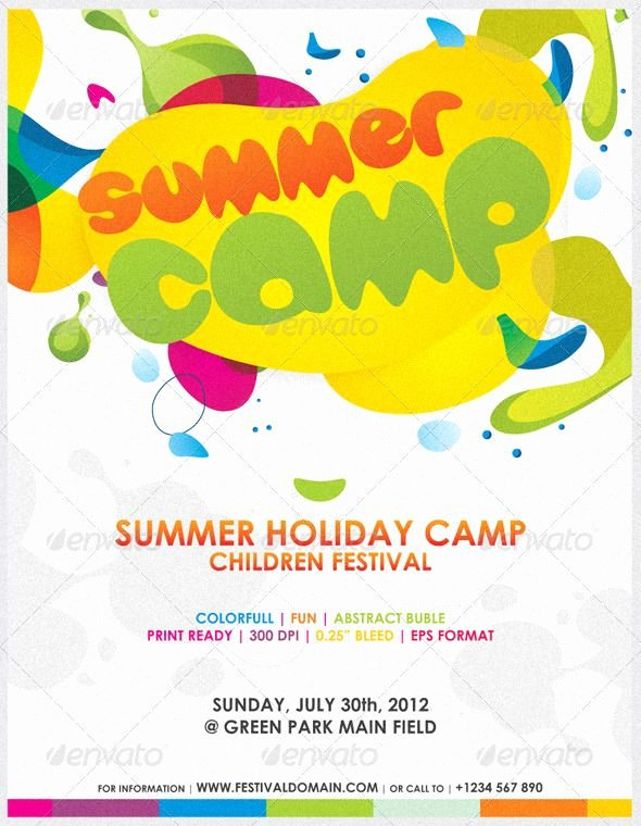 Summer Camp Lesson Plan Template Best Of Awesome Kids Party In This Summer Colorfull Summer