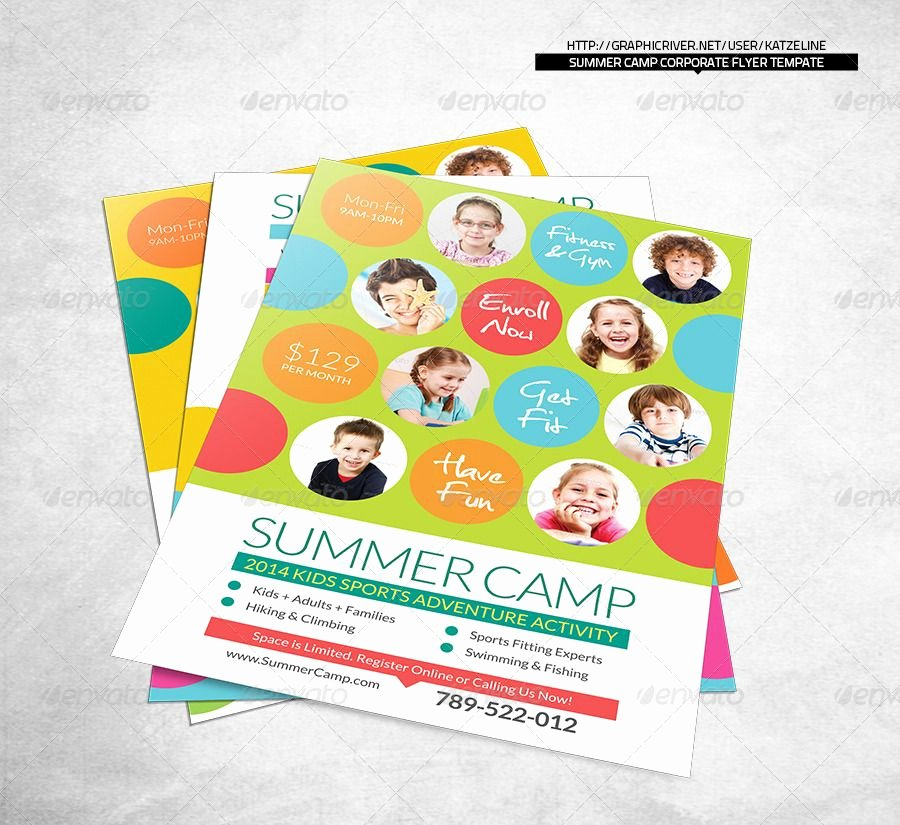 Summer Camp Lesson Plan Template Best Of Fresh Summer Camp Fitness Club Flyer Template