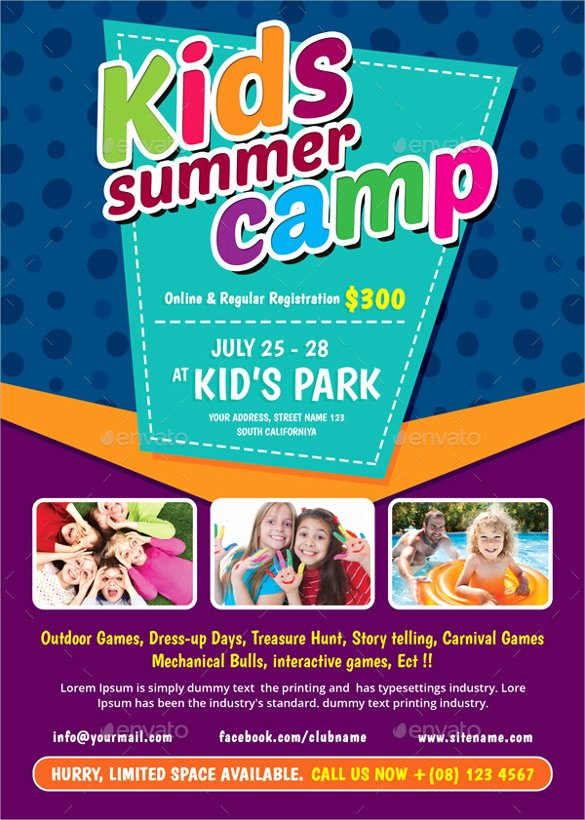 Summer Camp Lesson Plan Template Elegant 22 Summer Camp Flyer Templates