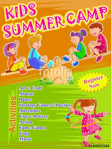 "Summer Camp Lesson Plan Template Fresh ""banner Poster Design Template for Kids Summer Camp"
