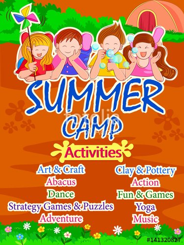 "Summer Camp Lesson Plan Template Inspirational ""banner Poster Design Template for Kids Summer Camp"