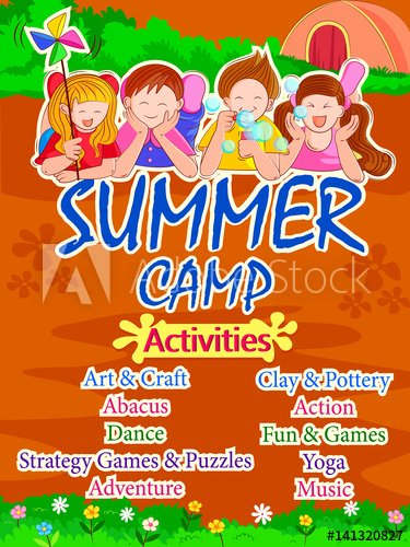 Summer Camp Lesson Plan Template Lovely Banner Poster Design Template for Kids Summer Camp