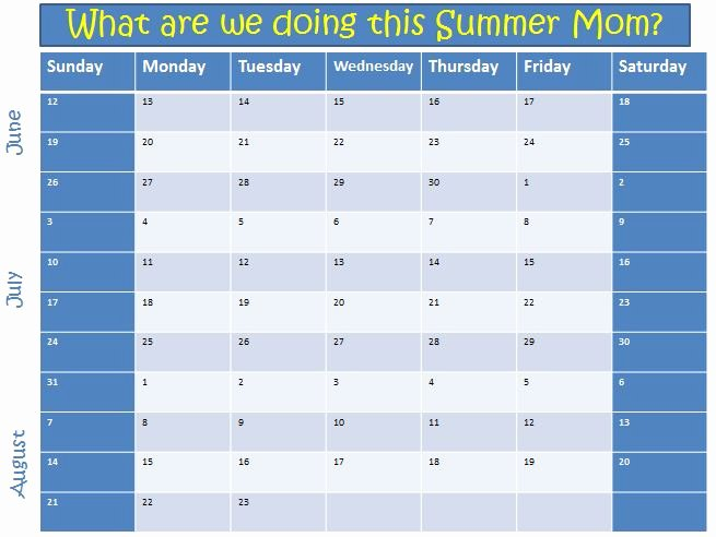 Summer Camp Lesson Plan Template Luxury 2011 Kids Summer Planning Template