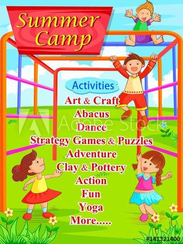 Summer Camp Lesson Plan Template Unique Banner Poster Design Template for Kids Summer Camp