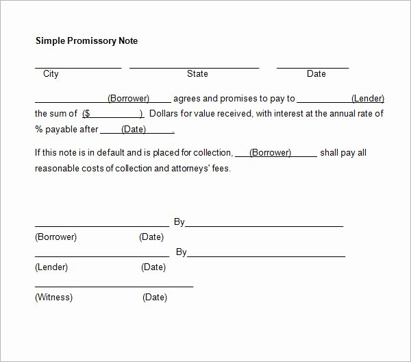 Suze orman Promissory Note Fresh Promissory Note Template Word