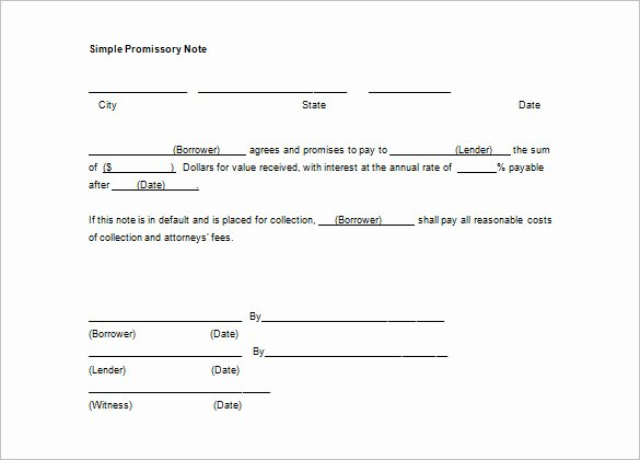 Suze orman Secured Promissory Note Fresh Simple Promissory Note