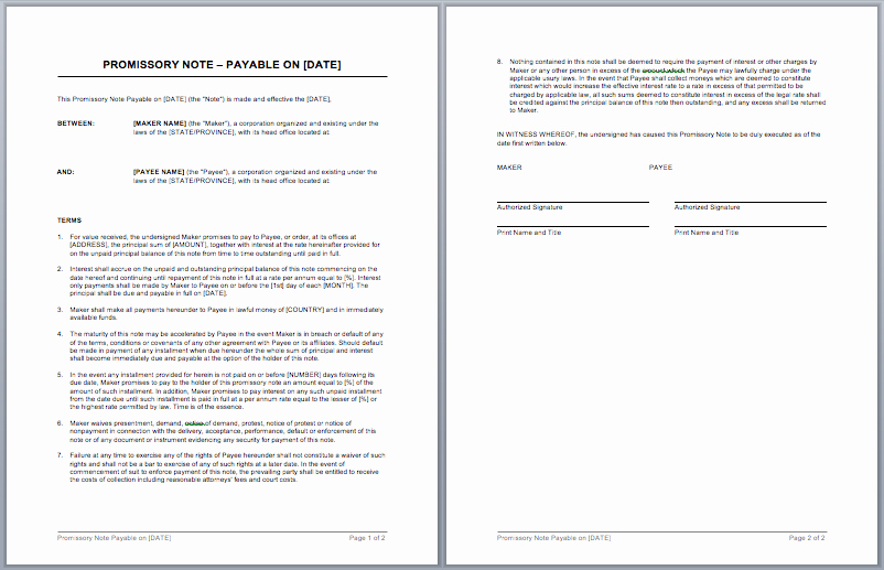 Suze orman Secured Promissory Note Luxury Promissory Note Template Word