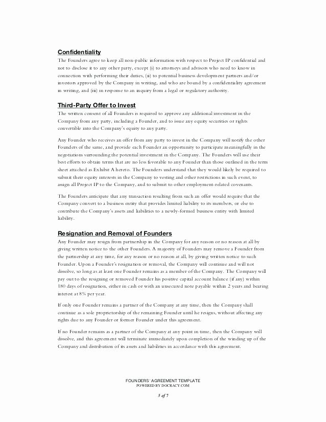 Sweat Equity Agreement Pdf Awesome Private Equity Investment Agreement Template Proposal