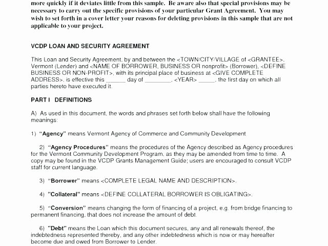 Sweat Equity Agreement Pdf New Funding Agreement Template Facilities Management Agreement