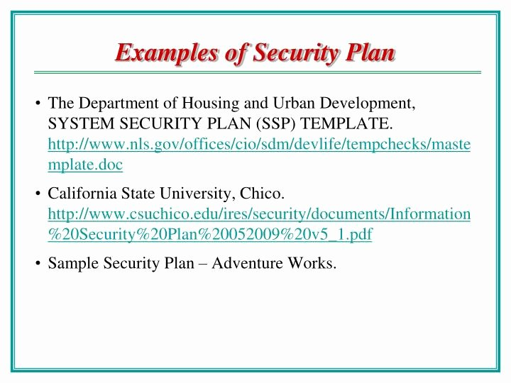 System Security Plan Template Awesome Ppt Chao Hsien Chu Ph D College Of Information