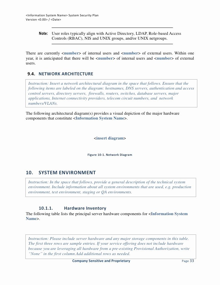 System Security Plan Template Unique Fedramp System Security Plan Template