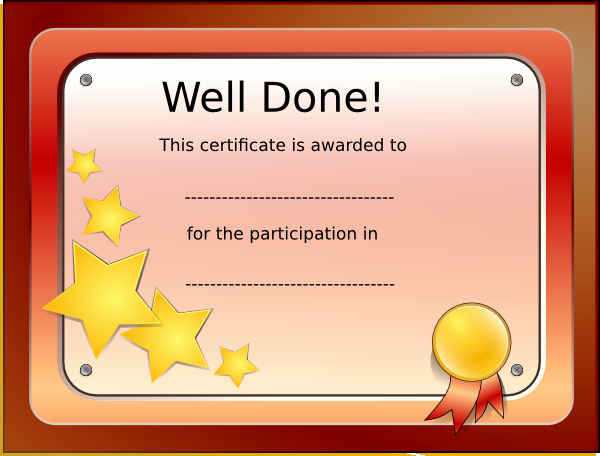 Talent Show Participation Certificate Awesome Template for Certificate Of Participation In Talent Show