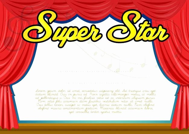 Talent Show Participation Certificate Elegant Diploma Certificate Template with Colorful Frame for