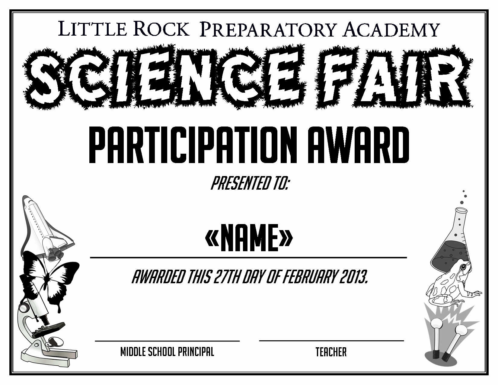 Talent Show Participation Certificate Elegant Little Rock Preparatory Academy Work by Anna Alderson at