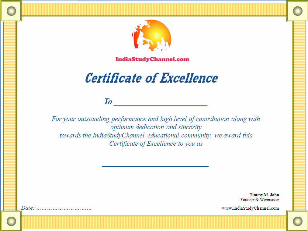 Talent Show Participation Certificate Lovely Award Certificates From isc for Winners Updated