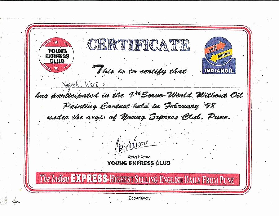 Talent Show Participation Certificate Lovely Diploma Certificate Template with Colorful Frame for