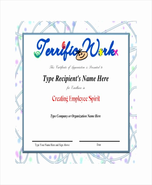 Talent Show Participation Certificate Luxury Recognition Template Reverse Search