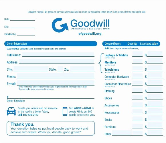 Tax Deductible Donation Receipt Template Inspirational 4 Tax Donation Receipt Templates Excel Xlts