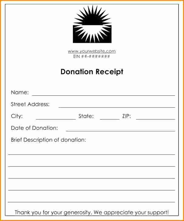 Tax Deductible Donation Receipt Template Inspirational 6 Receipt for Tax Deductible Donation Template