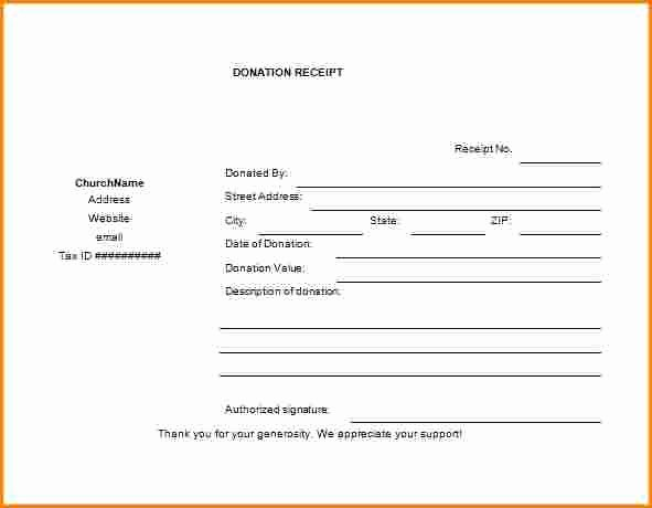 Tax Deductible Donation Receipt Template New 5 Tax Deductible Receipt Template
