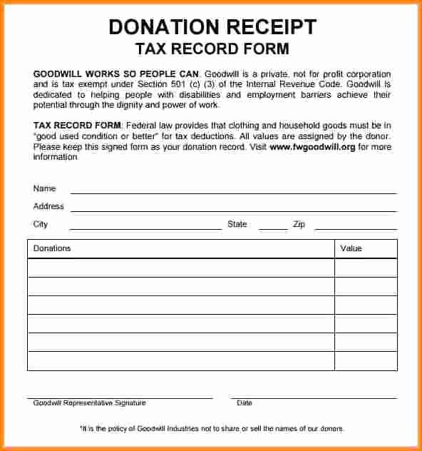 Tax Deductible Receipt Template Awesome 7 Tax Exempt Donation Receipt