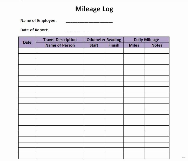 Tax Deductions for Courier Drivers Fresh 22 Printable Mileage Log Examples Pdf