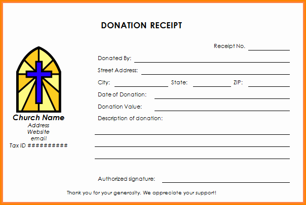 Tax Donation Receipt Template Luxury 6 Receipt for Tax Deductible Donation Template