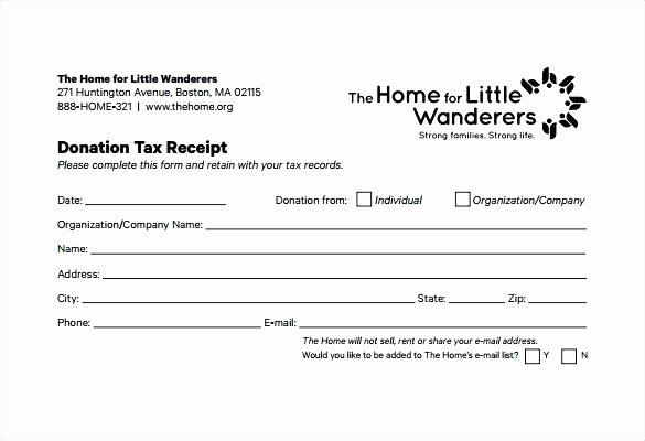 Tax Donation Receipt Template Unique Tax Receipt Template Donation Invoice Word – Rightarrow