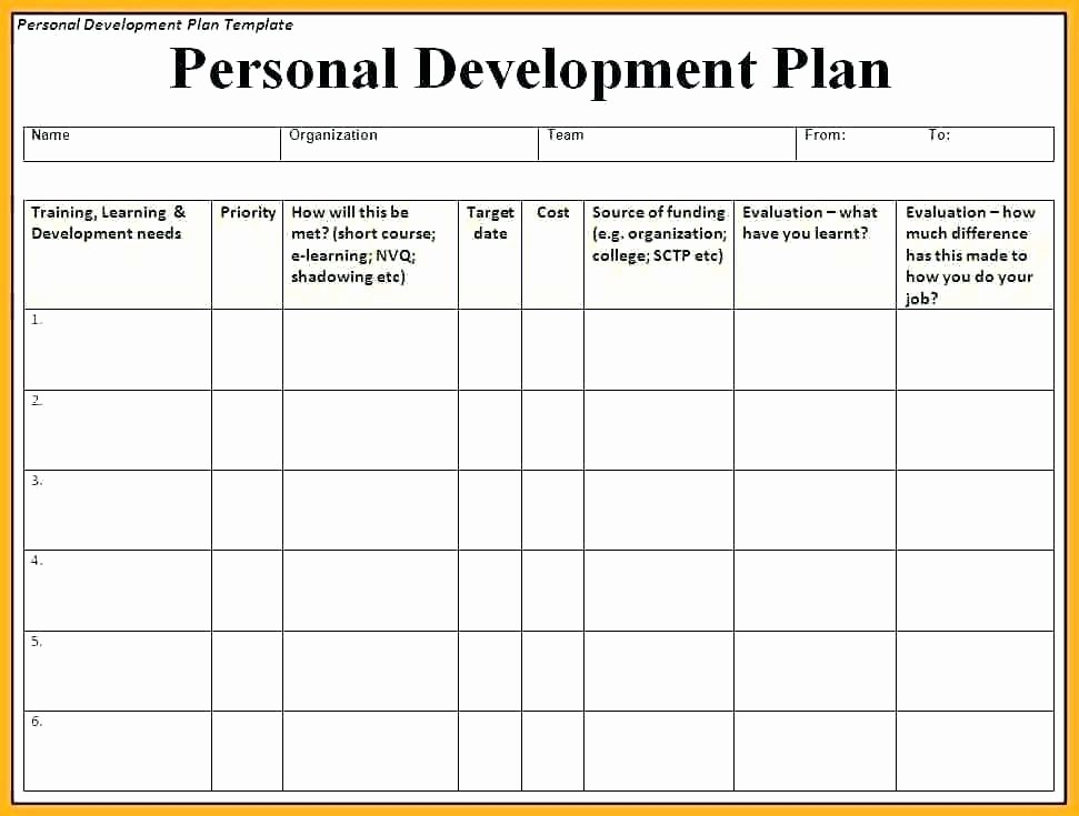 Teacher Improvement Plan Template Beautiful Professional Improvement Plan Template Staff Individual