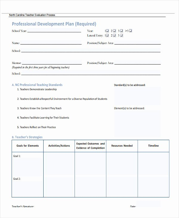 Teacher Improvement Plan Template Fresh 26 Development Plan Templates Pdf Word