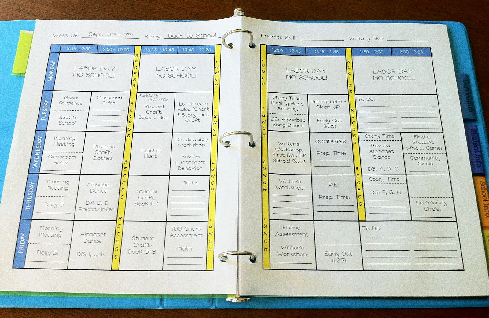 Teacher Lesson Plan Template Beautiful the Teacher Wife How to Create Your Own Teacher Binder