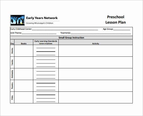 Teacher Lesson Plan Template Fresh Teacher Lesson Plan Template 8 Free Sample Example