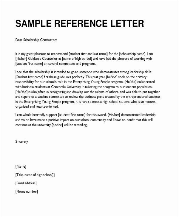 Teacher Recommendation Letter for Student Luxury Sample Teacher Re Mendation Letter 8 Free Documents