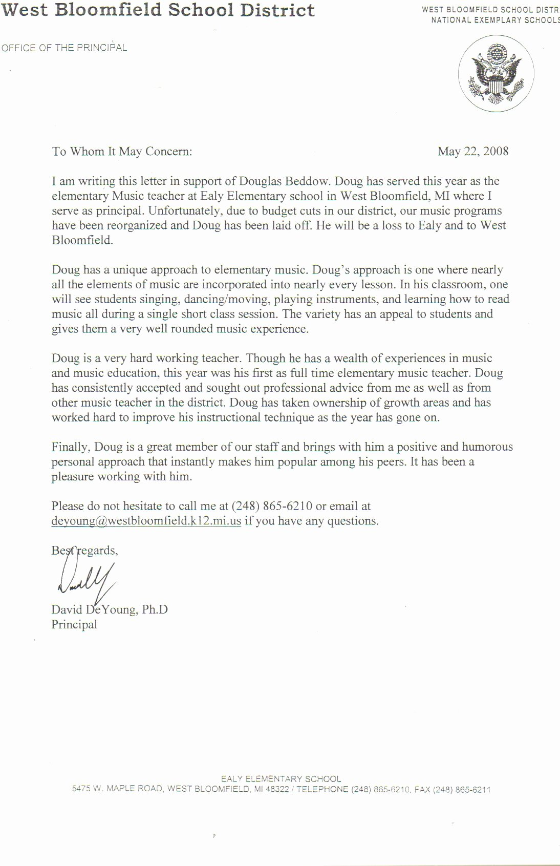 Teacher Recommendation Letter Sample Awesome Sample Letter Re Mendation for A Satisfactory Teacher